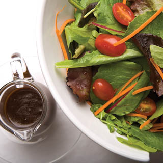 Fresh salad with homemade balsamic vinaigrette recipe
