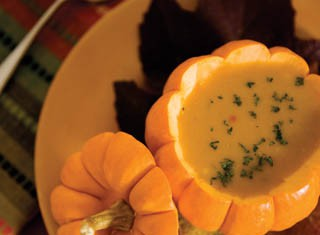 Pumpkin Soup with Citrus and Ginger recipe