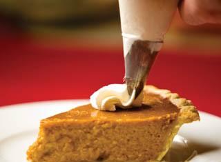 Pumpkin Pie with rum whipped cream recipe