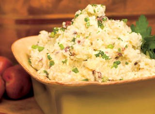 Boursin Smashed Red-Skinned Potatoes Recipe