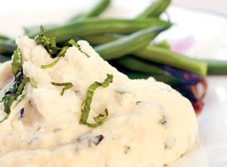 Mashed Potatoes with Fresh Basil Recipe
