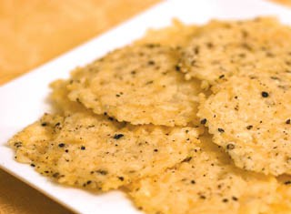 Parmesan Pepper Crisps recipe