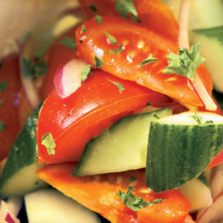 Marinated tomatoes and cucumbers recipe