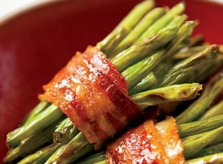 Bacon-wrapped green bean bundles recipe