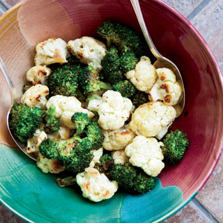 Roasted broccoli and cauliflower recipe