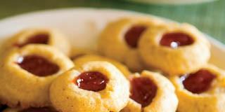 Almond Shortbread Thumbprint Cookies recipe
