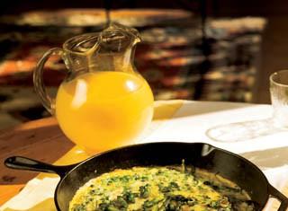 Asparagus, Spinach & White Cheddar Frittata recipe