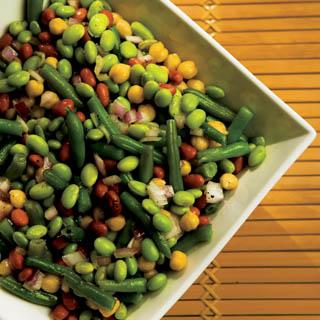 Asian Sweet & Sour Bean Salad recipe