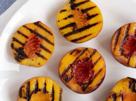 grilled fruit; peaches
