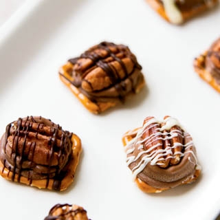 Caramel Chocolate Turtle Pretzels