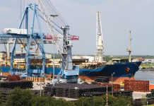 Port of Mobile, Alabama exports agriculture products
