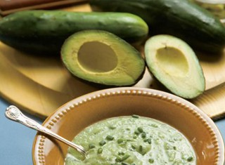 Cold Cucumber Soup with Avocado Recipe