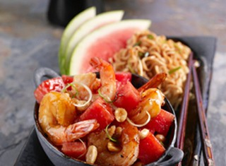 Kung Pao Watermelon Shrimp Recipe