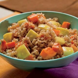 Cinnamon-Spiced Quinoa with Apples and Sweet Potato Recipe