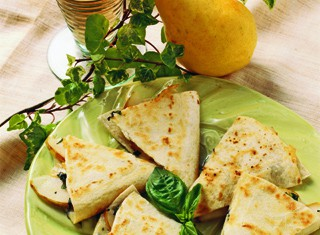 Bartlett Pear Cheese Quesadilla
