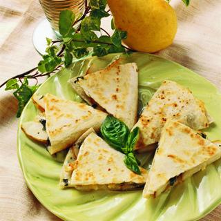 Bartlett Pear Cheese Quesadilla