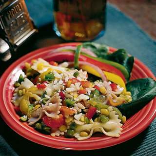 Pasta, Pea and Bell Pepper Salad Recipe