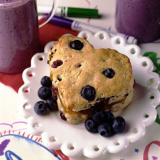 Apricot Filled Blueberry Biscuit Recipe