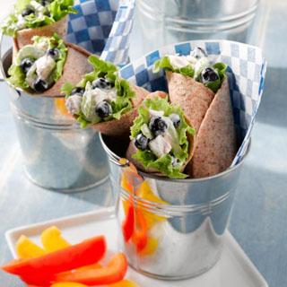 Blueberry Chicken Salad Wraps Recipe