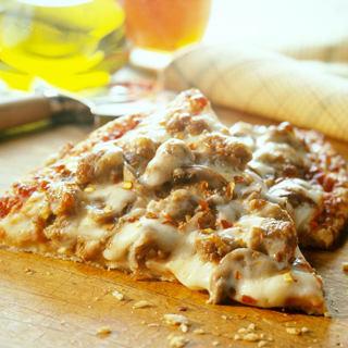 Cheesy Sausage and Mushroom Pizza Recipe