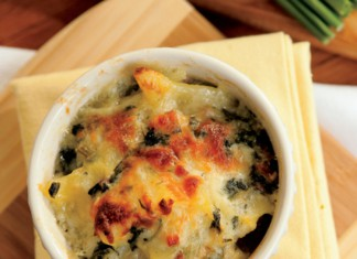 potato, spinach and ham gratin recipe