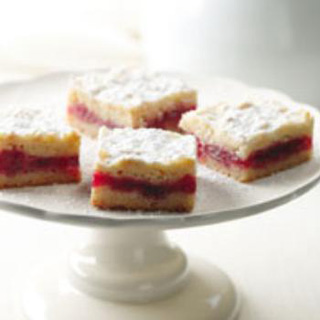 Shortbread Cookies with Cranberry Jam