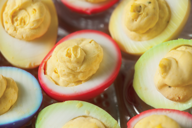How to Dye Deviled Eggs   Farm Flavor