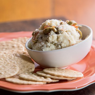 White Cheddar and Olive Pimento Cheese