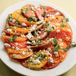 Fresh Ricotta Salad with Heirloom Tomatoes and Basil