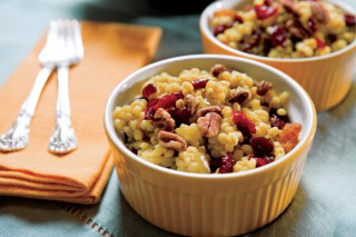 Curried Barley with Cranberries, Raisins and Pecans