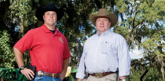 Chief (Lt.) Gene Wiggins, right and Special Agent Slaton Jemison Agriculture Rural Crime Unit