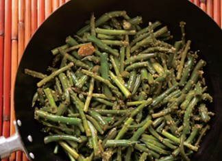 Sesame Green Beans and Asparagus
