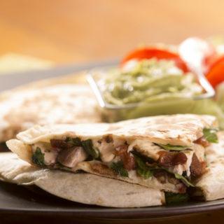 Chicken and Spinach Quesadilla