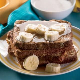 Salted Caramel Banana French Toast