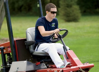 Greg Vollbrecht, a student in the golf course management