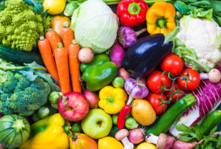 Vegetables and fruits - fresh produce calendars; local food school lunch