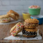 No-Churn Cake Batter Cookie Sandwiches