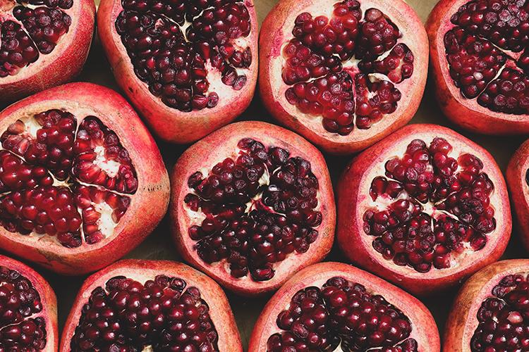 pomegranates; in season winter