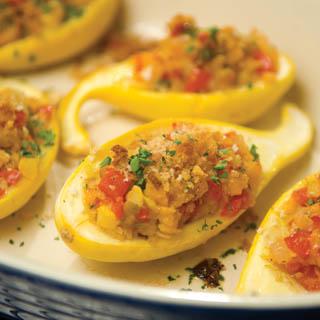 Garden Stuffed Yellow Squash Farm Flavor Recipe