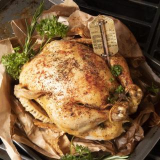 Lemon Herb Brown Bag Chicken.