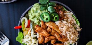 chicken fajita bowl