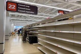 empty store shelves; U.S. food shortage