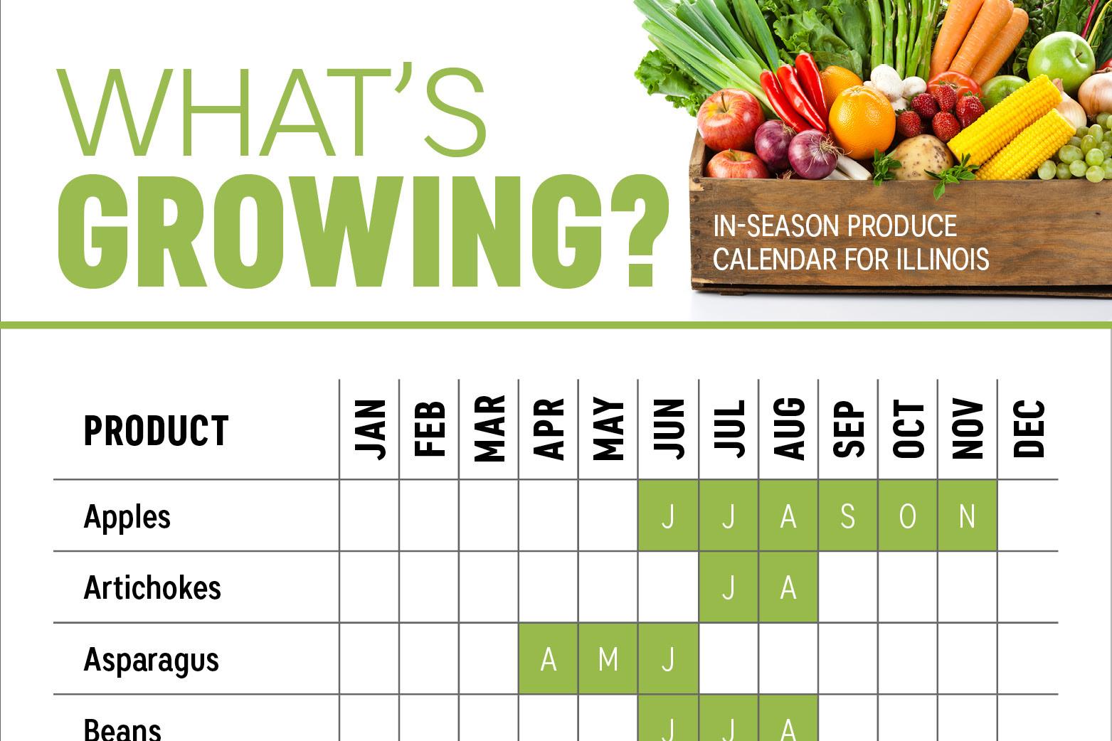 What S In Season Illinois Produce Calendar Farm Flavor